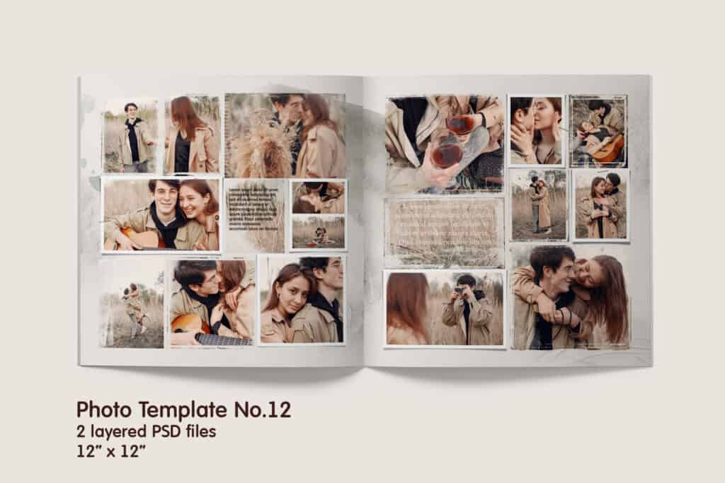 Photo Album Double Template No.12 prv 2 1024x683 - Photo Album Double Template No.12