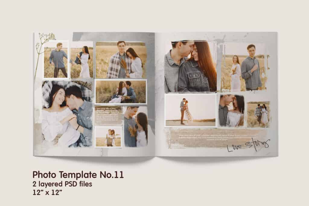 prv 12 1024x683 - Photo Album Double Template No.11