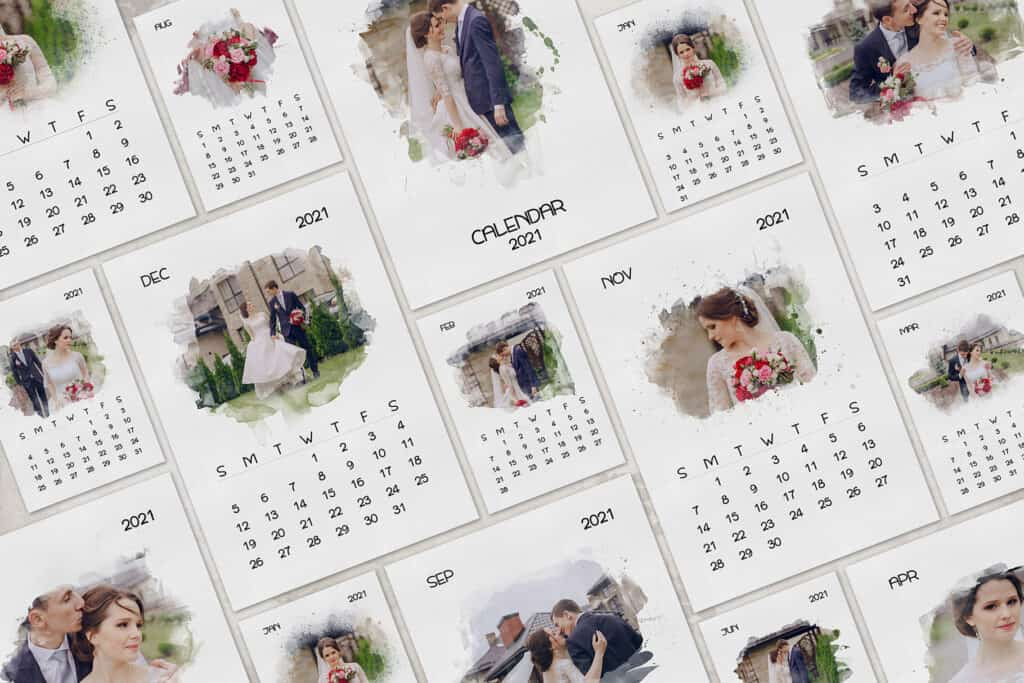 prv 2 1024x683 - 2021 Calendar Template with Watercolor Mask