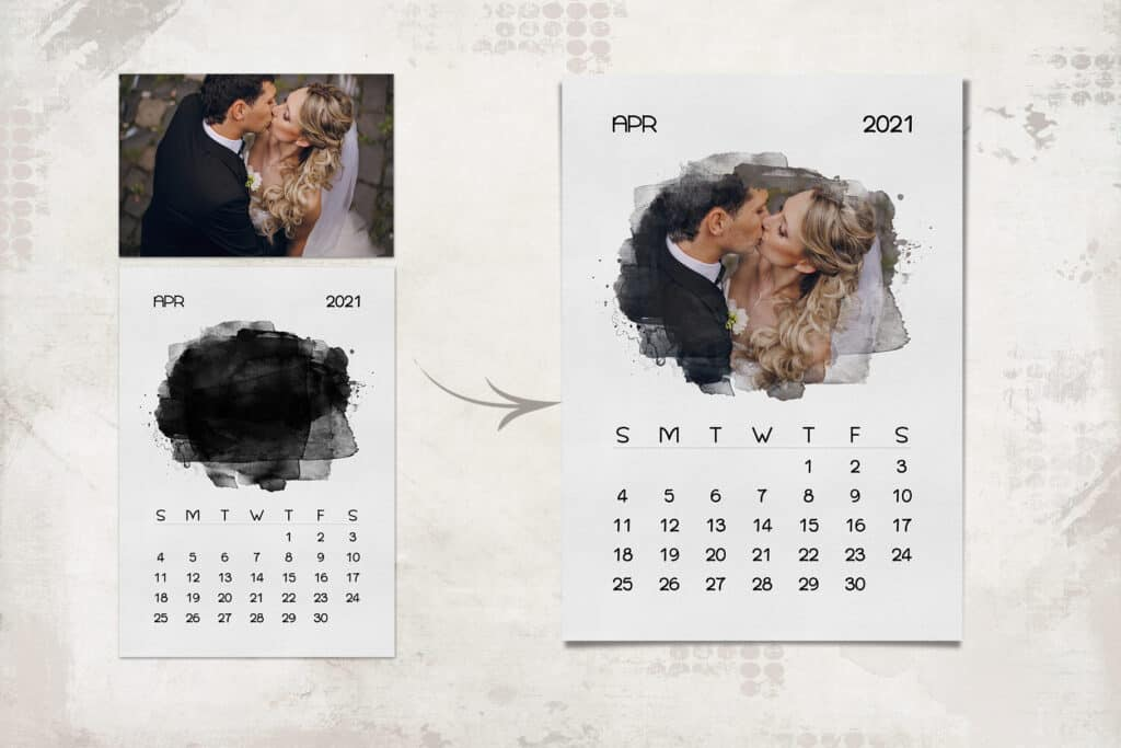 prv 3 1024x683 - 2021 Calendar Template with Watercolor Mask