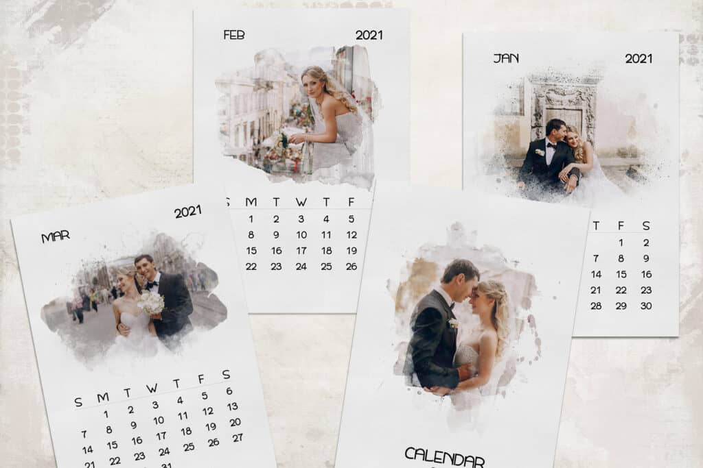 prv 4 1024x683 - 2021 Calendar Template with Watercolor Mask