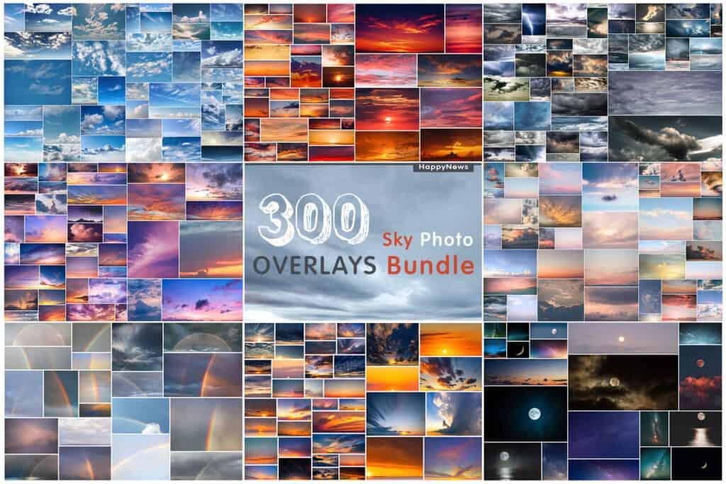 sky prv 1 1024x683 - 300 Sky Bundle Photo Overlays