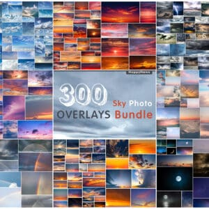 300 Sky Bundle Photo Overlays