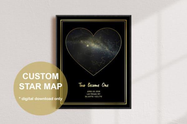 Custom Heart Star Gold Map