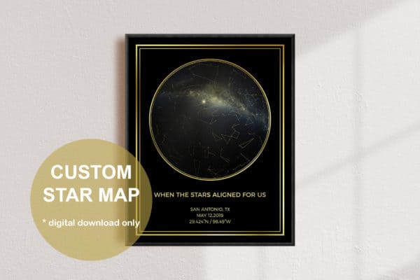 Custom Round Star Gold Map
