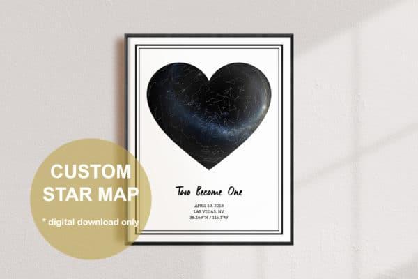 Custom Heart Star White Map