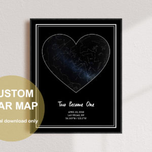 Custom Heart Star Map