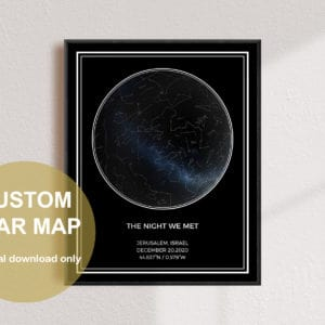 Custom Round Star Map