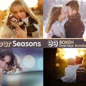 99 Bokeh Overlays Bundle (Gold, Autumn, Spring, Summer, Winter)