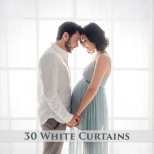 30 White Curtains