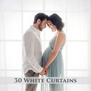 30 White Curtains