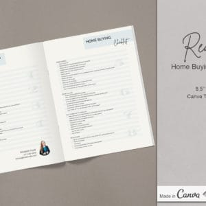 Real Estate Home Buying Checklist Canva Template