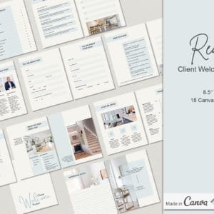 18 Real Estate Client Welcome Canva Templates