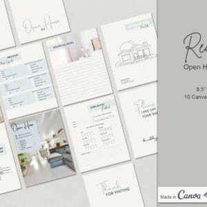 10 Real Estate Open House Canva Templates Kit