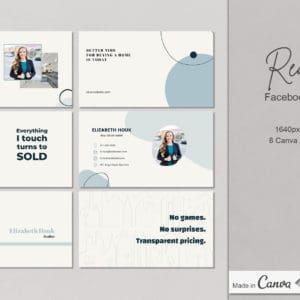 6 Real Estate Facebook Cover Canva Templates